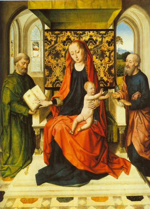 The Virgin And The Child Enthroned With Saints Peter And Paul 1465 | Dieric Bouts The Elder | Oil Painting