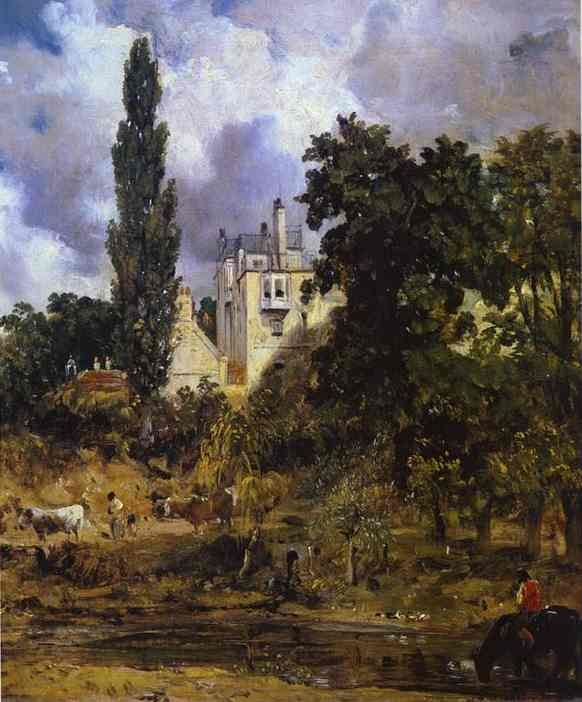 The Grove Hampstead (The Admirals House) 1832 | John Constable | Oil Painting