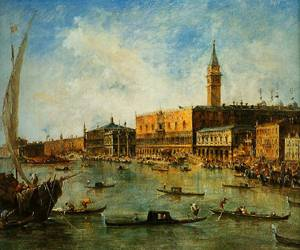 Venice The Doges Palace And The Molo From The Basin Of San Marco 1770 | Francesco Guardi | Oil Painting