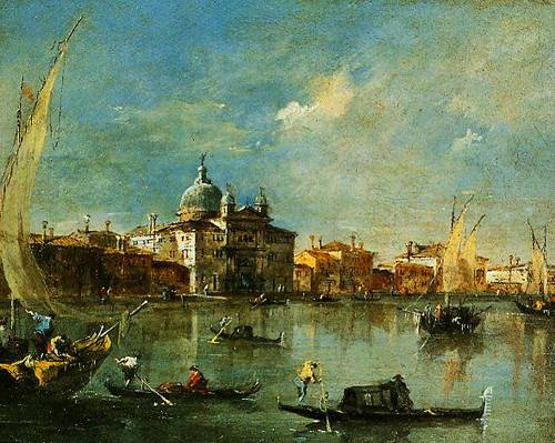 Venice The Giudecca With The Zitelle 1780-1790 | Francesco Guardi | Oil Painting