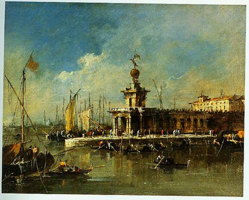 Venice The Punta Della Dogana 1780-1790 | Francesco Guardi | Oil Painting