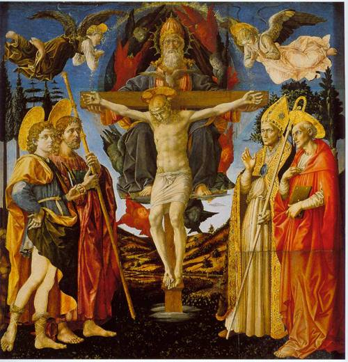 The Trinity And Four Saints 1455-60 | Francesco Pesellino | Oil Painting