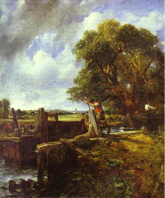 The Lock (A Boat Passing A Lock) 1824 | John Constable | Oil Painting