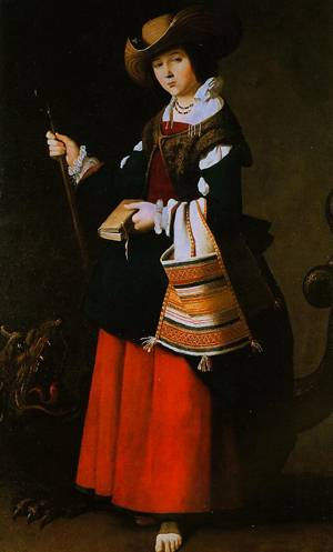 Saint Margaret Of Antioch 1630-1634 | Francisco De Zurbaran | Oil Painting