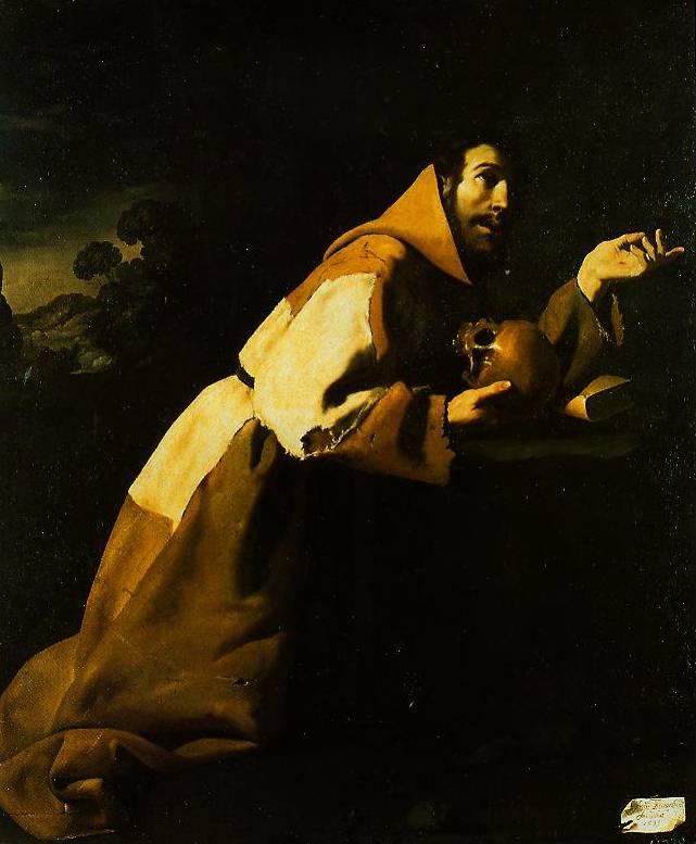 The Francis In Meditation 1639 | Francisco De Zurbaran | Oil Painting