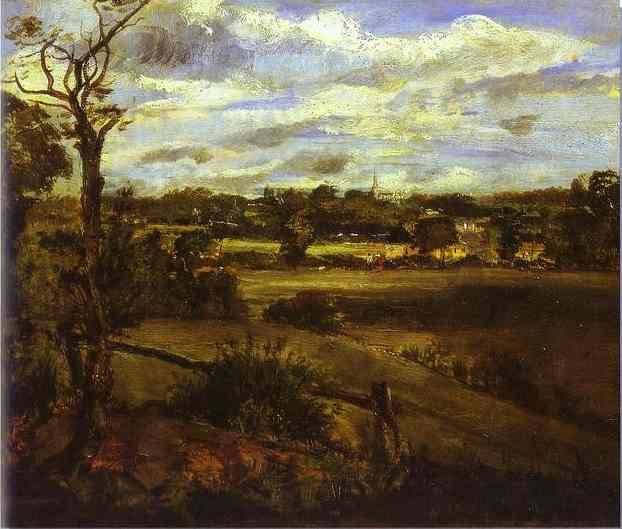 View Of Highgate From Hampstead Heath 1830s | John Constable | Oil Painting