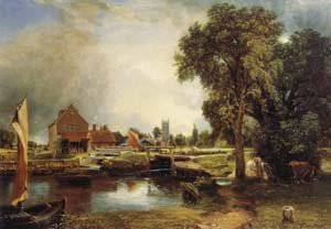 Dedham Lock and Mill   John Constable   Oil Painting