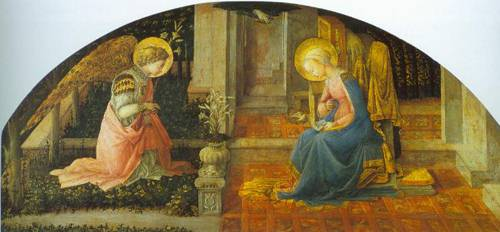 The Annunciation 1445-50 | Fra Filippo Lippi | Oil Painting