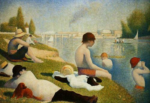 Bathers At Asnieres 1884 | Georges-Pietrre Seurat | Oil Painting