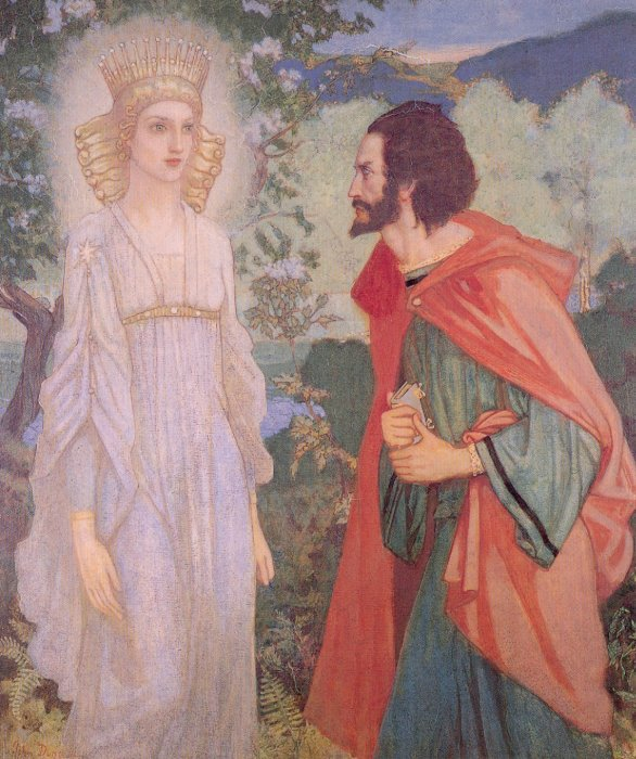 Merlin And The Fairy Queen | John Duncan | Oil Painting