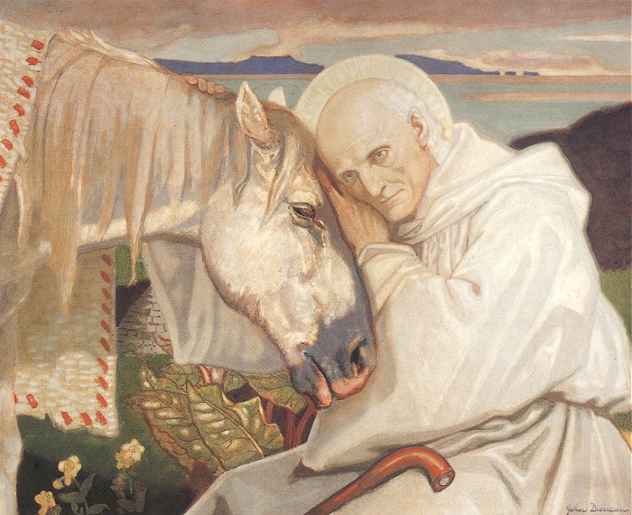 St Columba Bidding Farewell To The White Horse 1925   John Duncan   Oil Painting