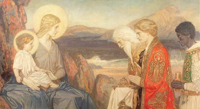The Adoration Of The Magi 1915   John Duncan   Oil Painting