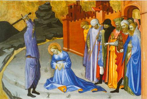 The Beheading Of Saint Catherine 1405-10 | Gherardo Starnina | Oil Painting