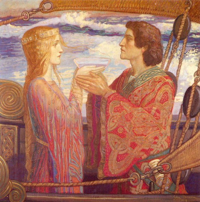 Tristan And Isolde 1912 | John Duncan | Oil Painting