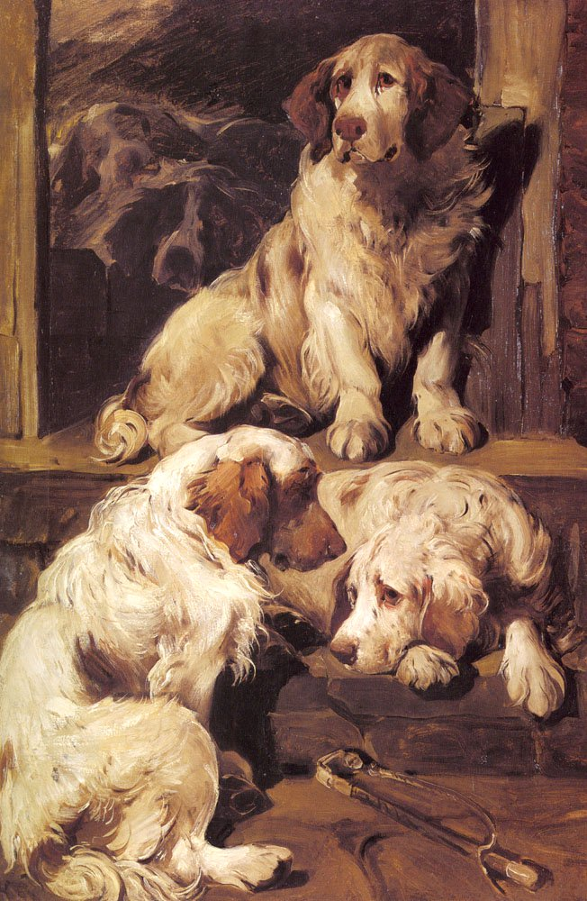 Clumber Spaniels | John Emms | Oil Painting