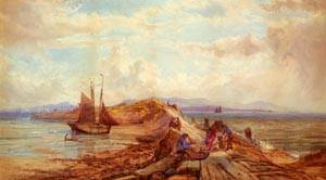 Returning With The Catch (Possibly On  The River Clyde) | John Faulkner | Oil Painting