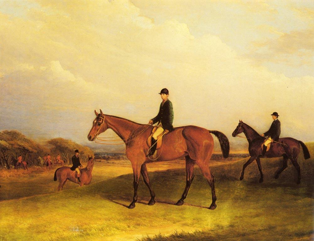 A Jockey On A Chestnut Hunter | John Ferneley | Oil Painting