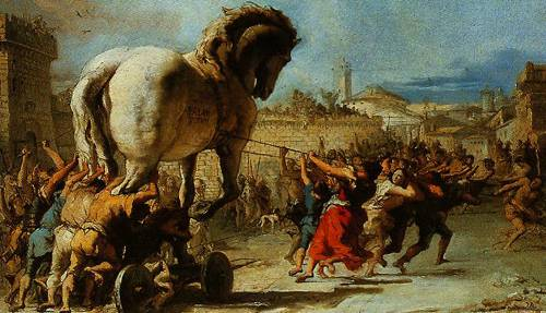 The Trojan Horse Into Troy 1760 | Giovanni Battista Tiepolo | Oil Painting