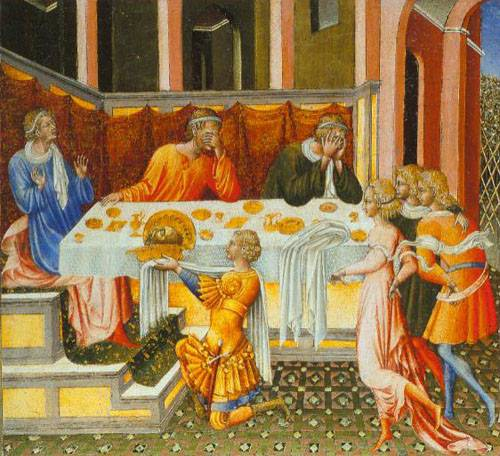 The Feast Of Herod 1453 | Giovanni Di Paolo | Oil Painting