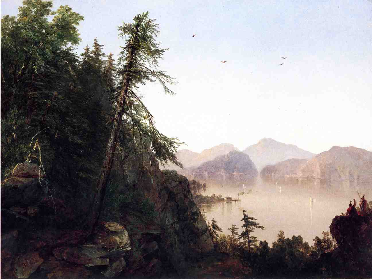 Along the Hudson 1852 | John Frederick Kensett | Oil Painting