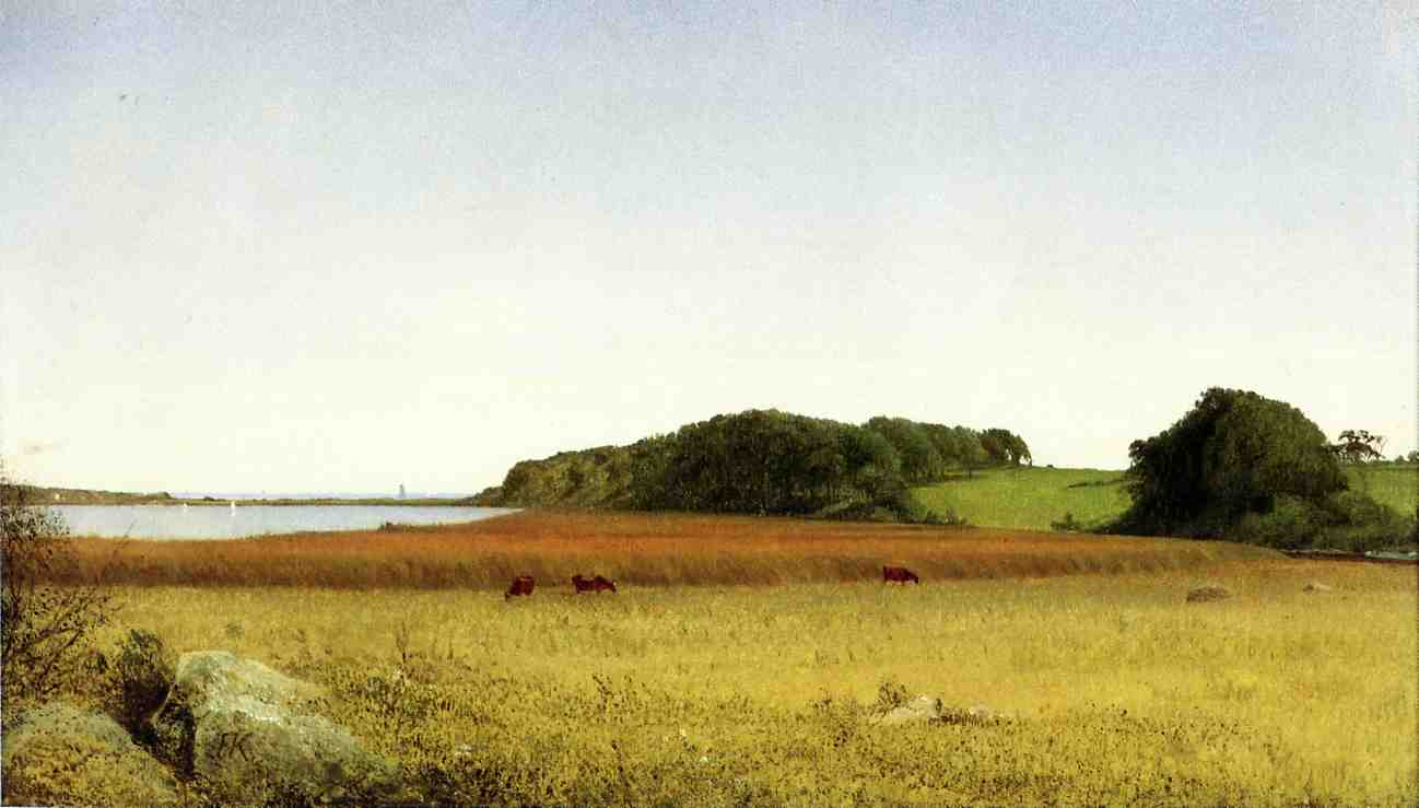 An Inlet of Long Island Sound 1865 | John Frederick Kensett | Oil Painting