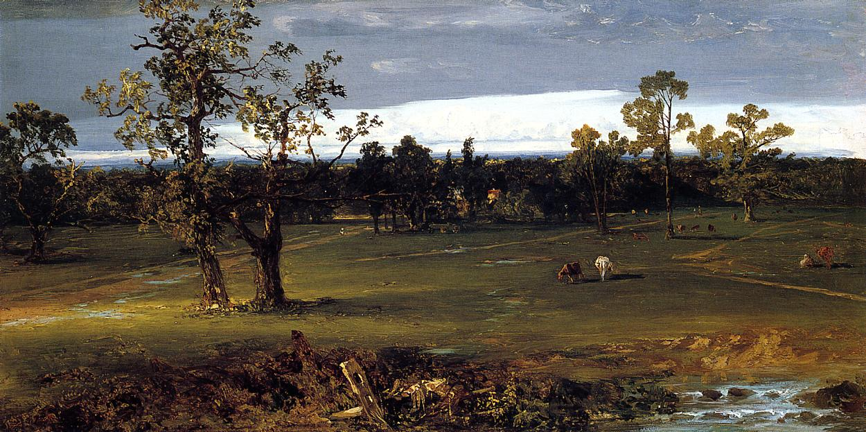 At Pasture 1844-1845 | John Frederick Kensett | Oil Painting