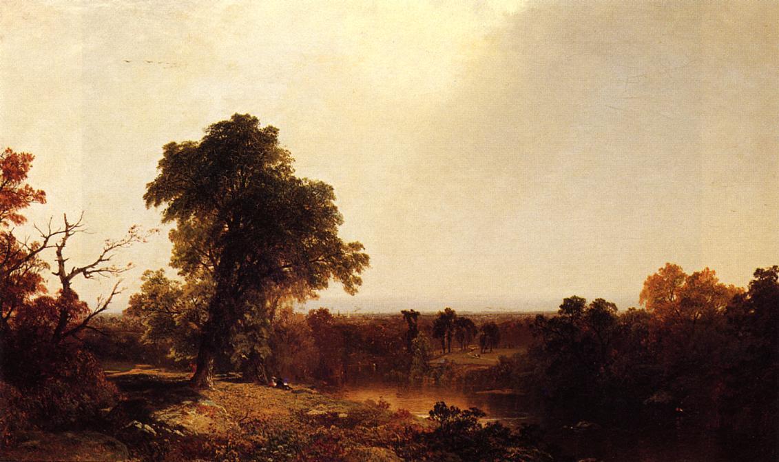 Autumnal River Landscape 1853 | John Frederick Kensett | Oil Painting