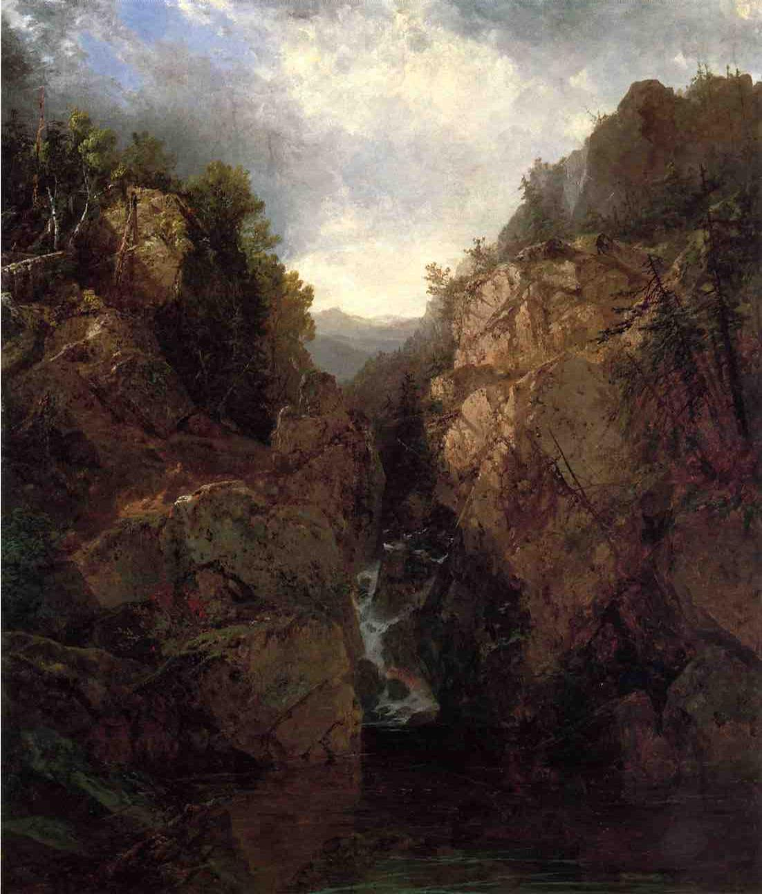 A Woodland Waterfall 1855 | John Frederick Kensett | Oil Painting