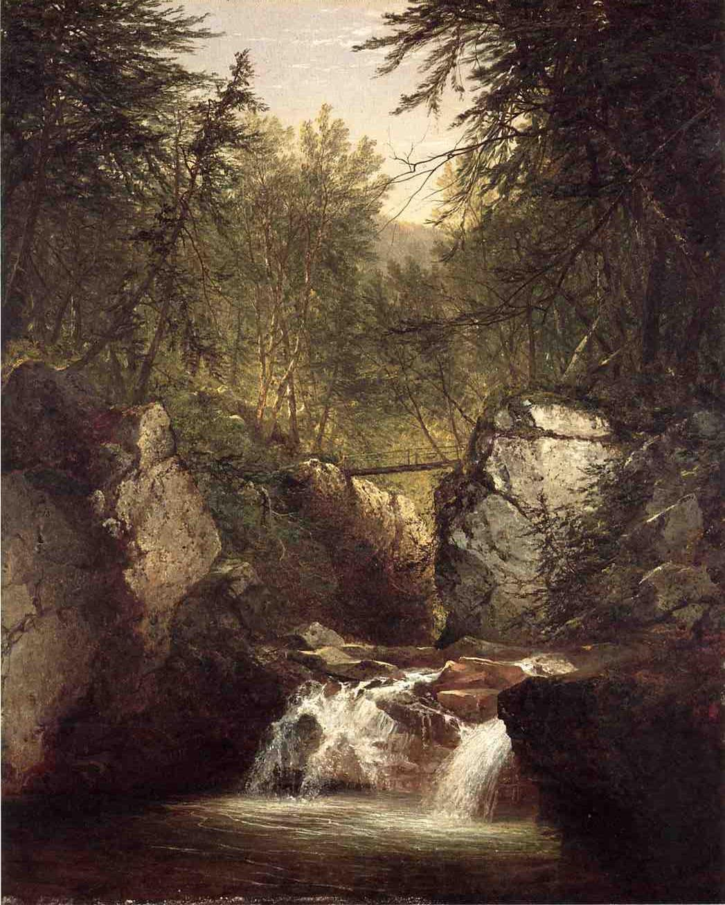 Bash Bish Falls 1855 | John Frederick Kensett | Oil Painting