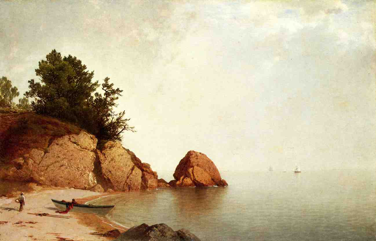 Beach at Newport 1869-1872 | John Frederick Kensett | Oil Painting