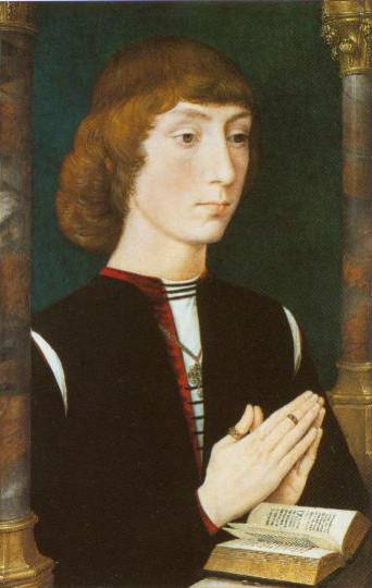 A Young Man At Prayer 1475 | Hans Memling | Oil Painting