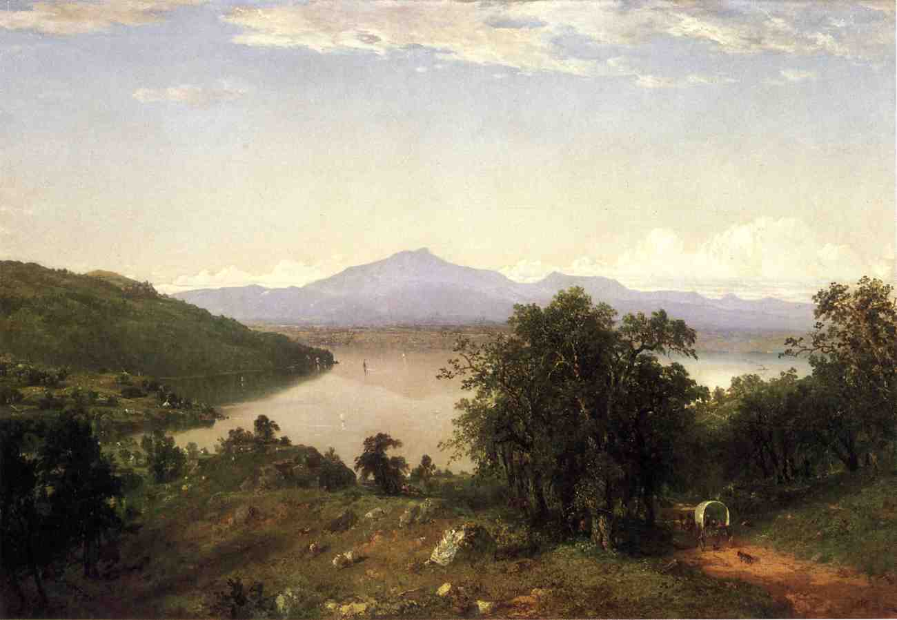 Camels Hump from the Western Shore of Lake Champlain 1852 | John Frederick Kensett | Oil Painting