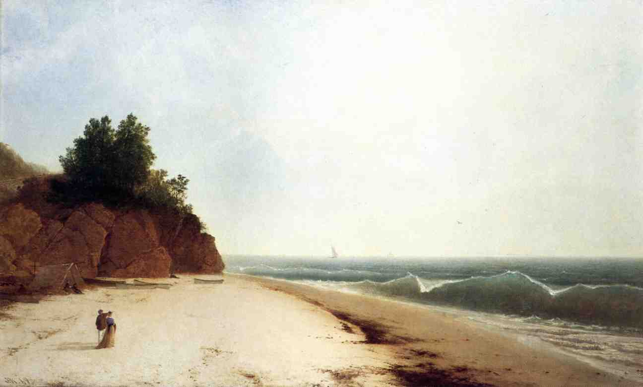 Coast Scene with Figures 1869 | John Frederick Kensett | Oil Painting