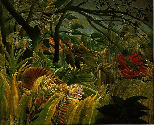 Tiger In A Tropical Storm (Surprised) 1891 Painting | Henri ...