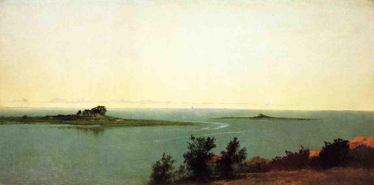 Fish Island from Kensetts Studio on Contentment Island 1872 | John Frederick Kensett | Oil Painting