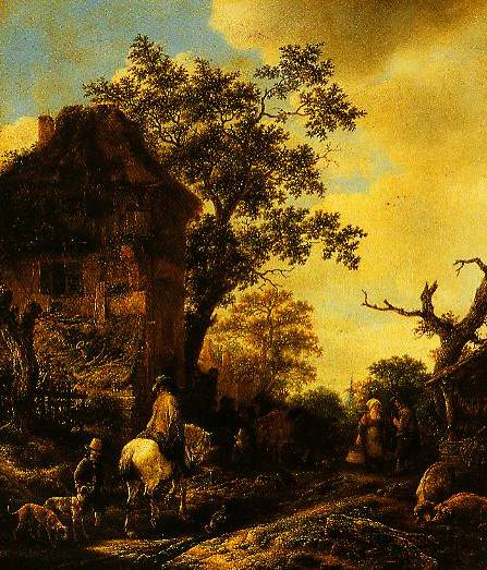 The Outskirts Of A Village With A Horseman 1640-1650 | Isack Van Ostade | Oil Painting