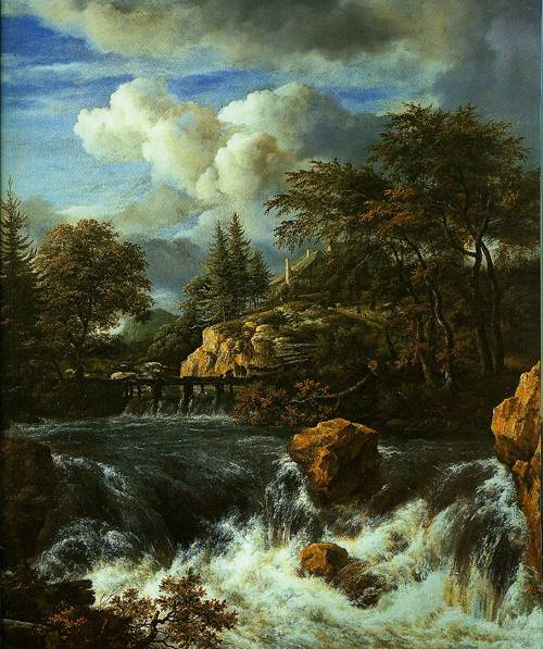 A Waterfall In A Rocky Landscape 1660-1670 | Jacob Van Ruisdeal | Oil Painting