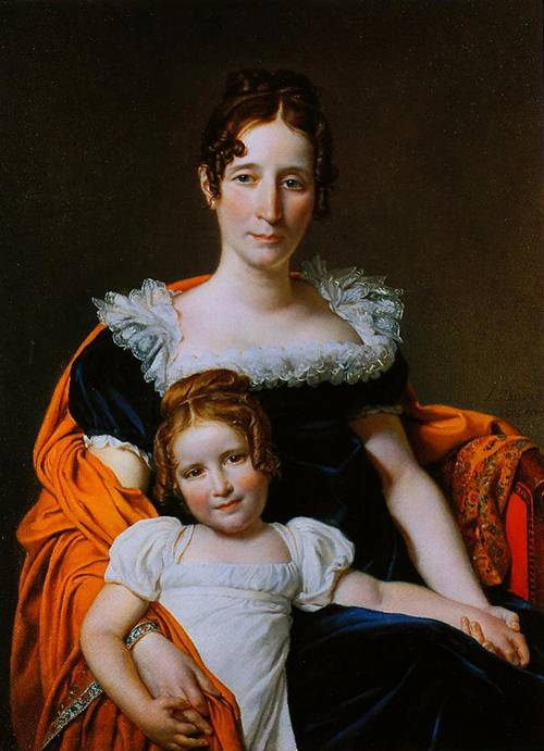 Portraits Of The Vicomtesse Vilain XIV And Her Daughter 1816   Jacques-Louis David   Oil Painting