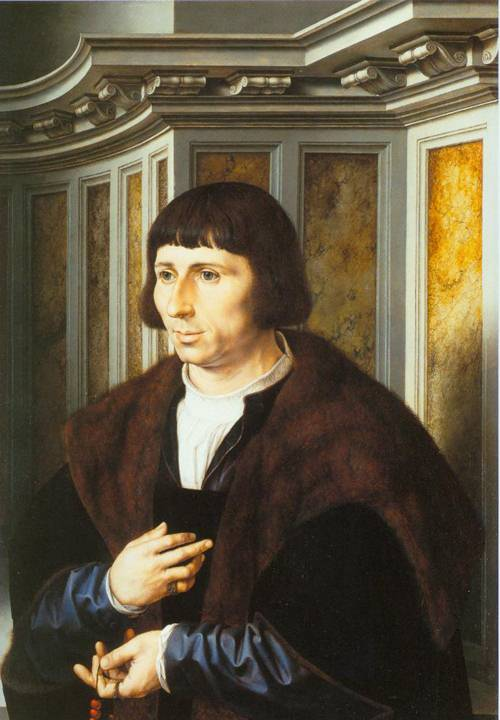 Portrait Of A Man With A Rosary 1525-30 | Jan Gossaert | Oil Painting
