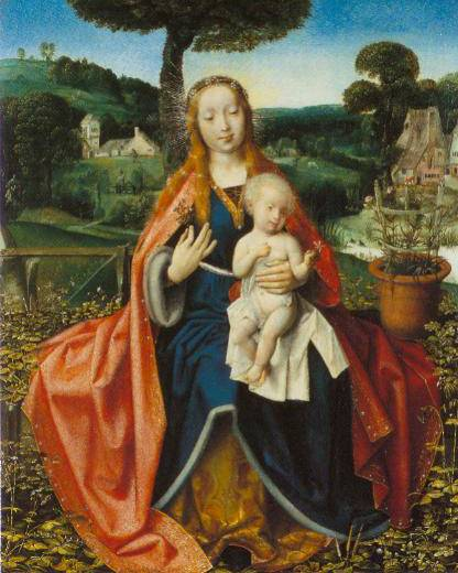 The Virgin And Child In A Landscape 1505 | Jan Provost | Oil Painting