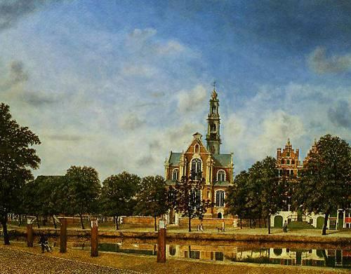 View Of The Westerkerk Amaterdam 1660 | Jan Van Der Heyden | Oil Painting