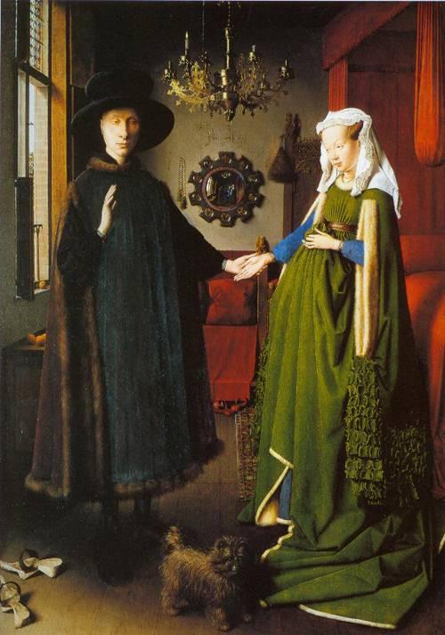 The Portrait Of Giovanni Arnolfini And His Wife Giovanna Cenami 1434   Jan Van Eyck   Oil Painting