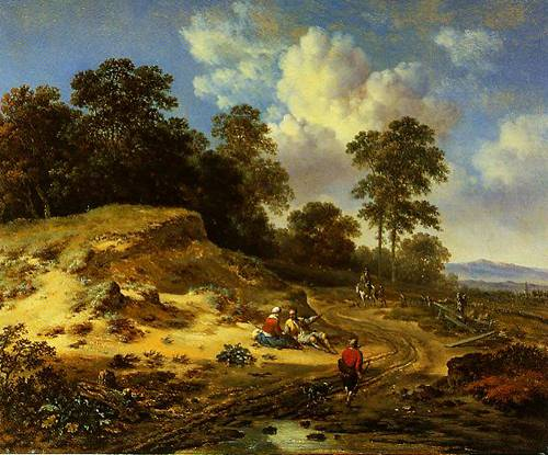 A Track By A Dune With Peasants And A Horseman 1665 | Jan Wijnants | Oil Painting