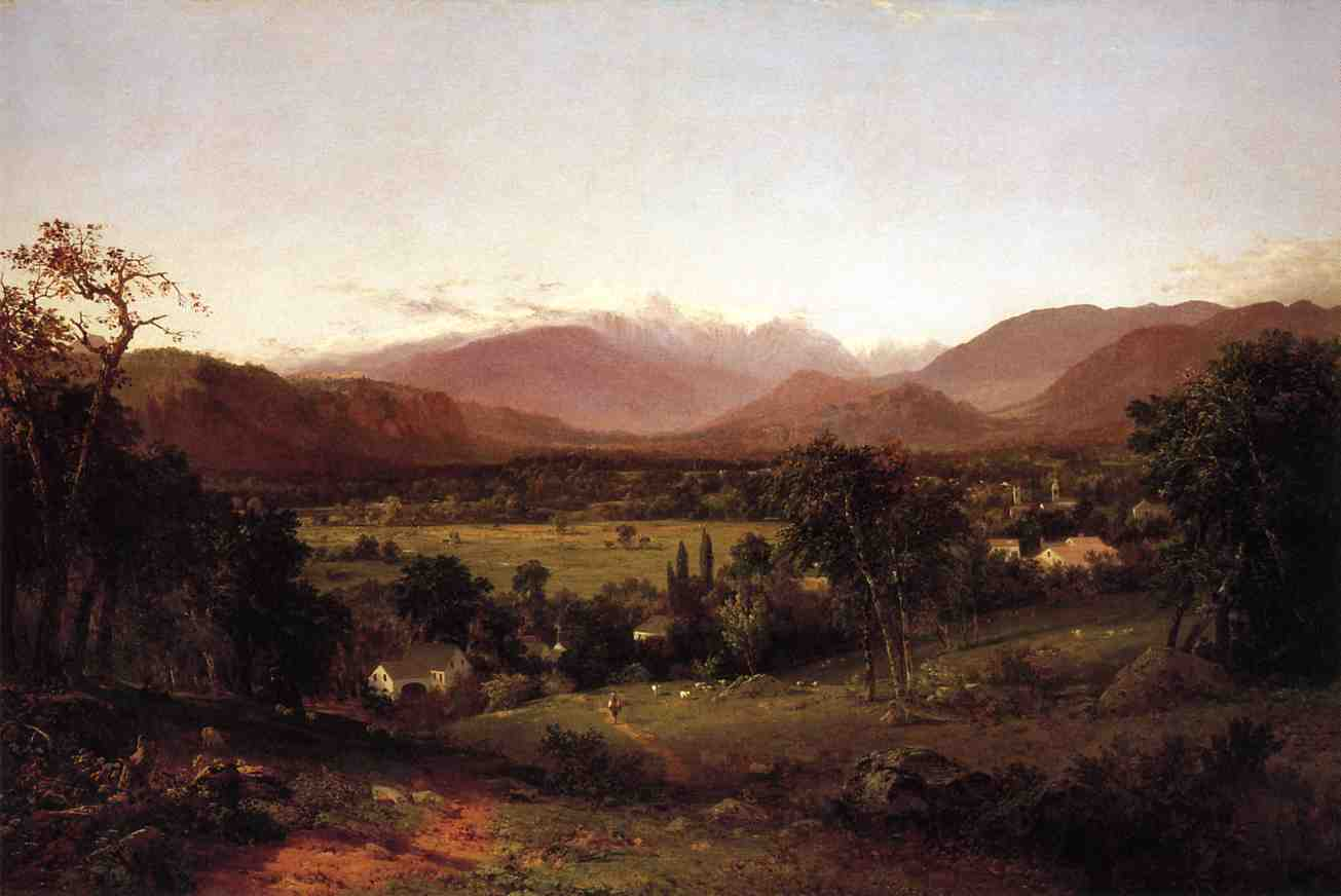 The White Mountains - From North Conway 1851 | John Frederick Kensett | Oil Painting