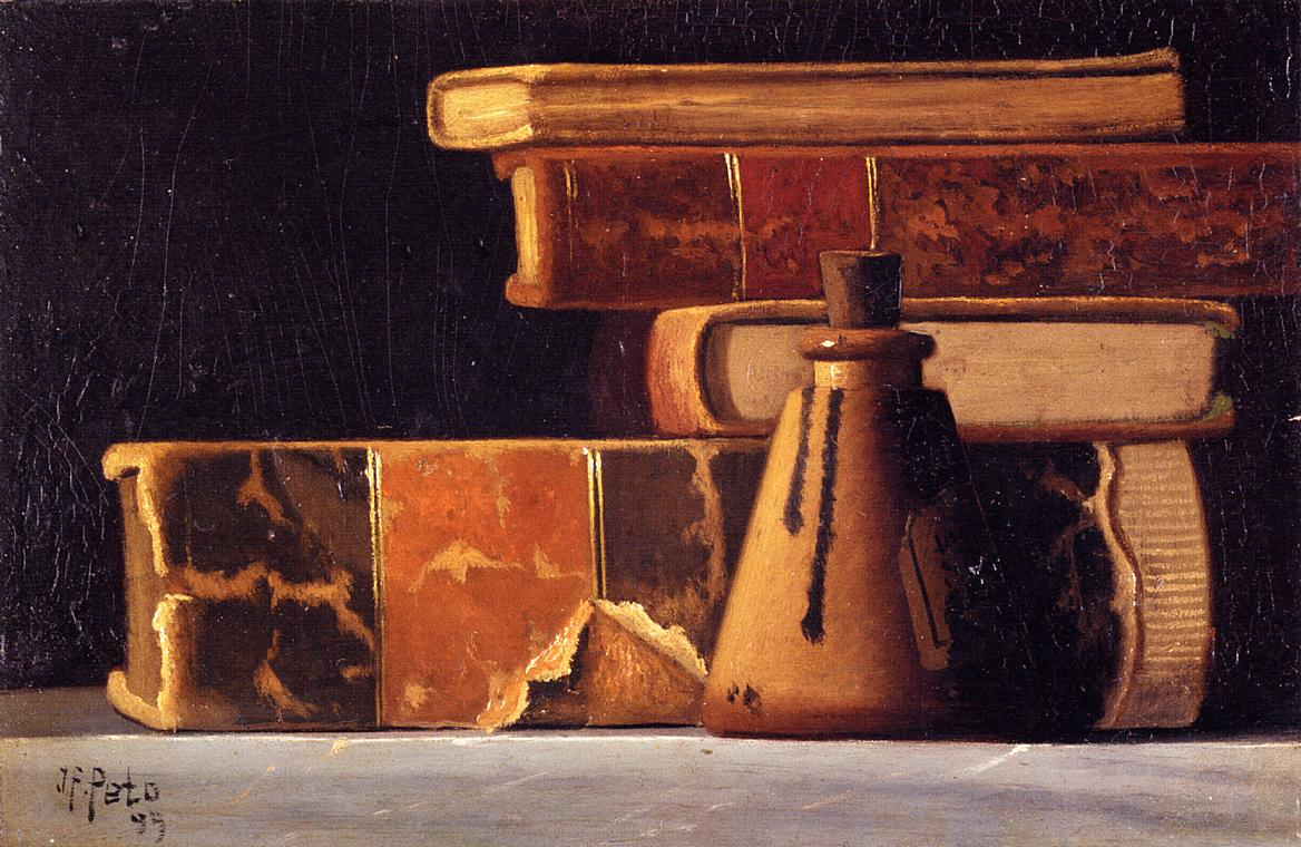 Still Life with Books and Inkwell 1899 | John Frederick Peto | Oil Painting