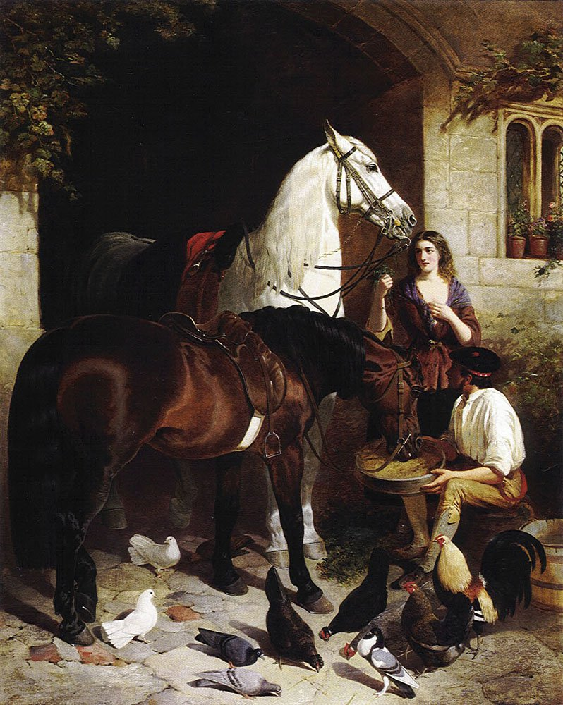 Feeding the Arab | John Frederick Snr Herring | Oil Painting