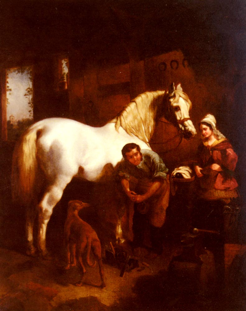 The Village Blacksmith | John Frederick Snr Herring | Oil Painting