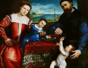 Giovanni Della Volta With His Wife And Children 1547 | Lorenzo Lotto | Oil Painting