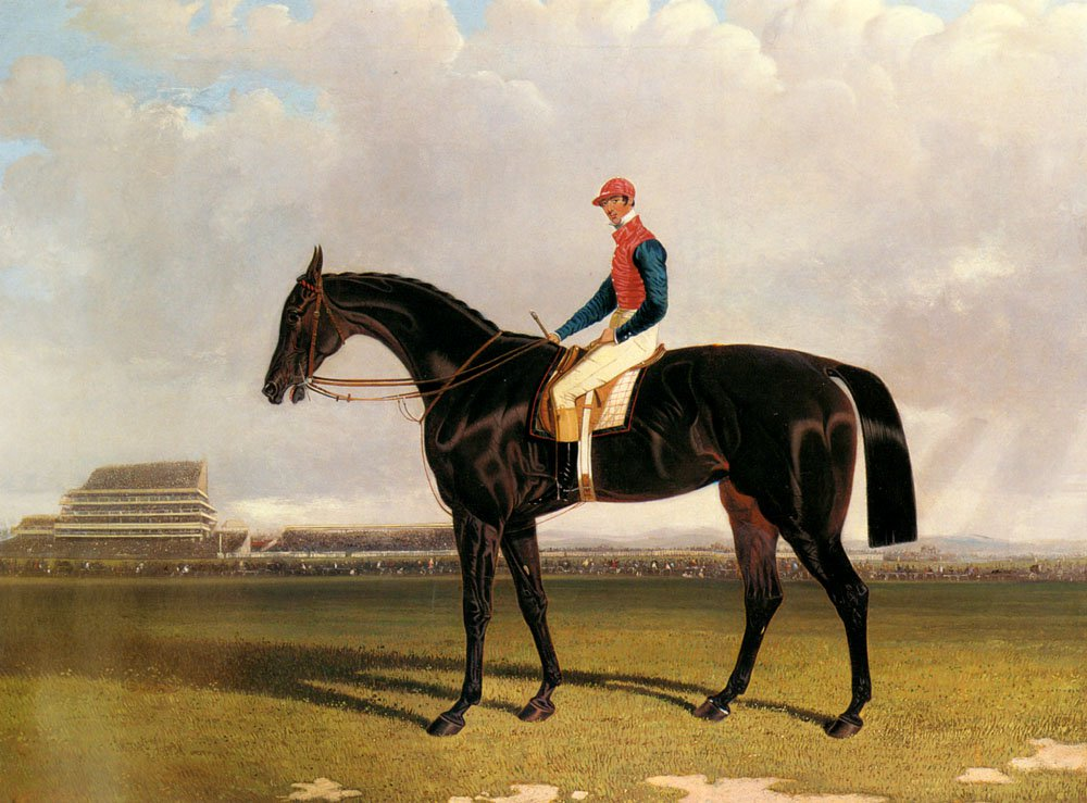 Lord Chesterfields Industry With William Scott Up At Epsom | John Frederick Snr Herring | Oil Painting