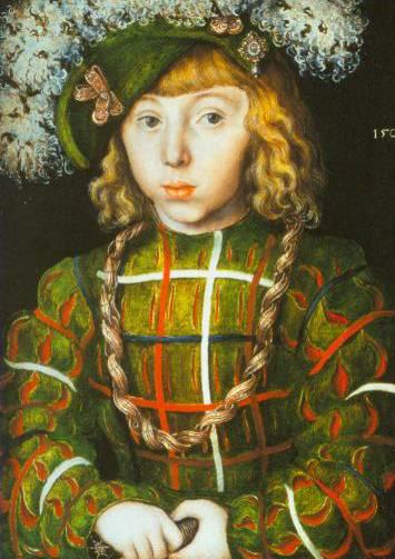 Portrait Of Johann Friedrich The Magnanimous At The Age Of Six 1509 | Lucas The Elder Cranach | Oil Painting